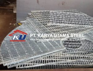 HARGA STEEL GRATING PER METER FINISHING HOT DIP GALVANIS SURABAYA