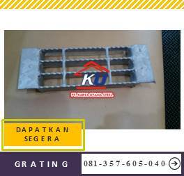 Supplier Besi Penutup Saluran Air Grating Standar Galvanis Hotdeep